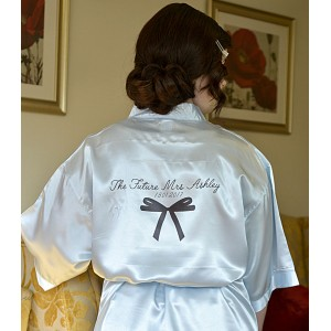 Bow Satin Robe